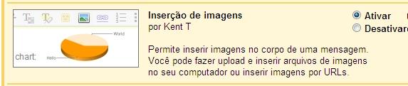 Ative a inserção de imagens no Gmail