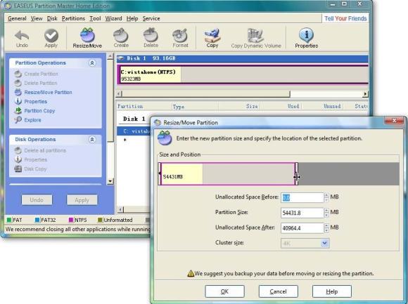 Deletar, formatar e redimensionar partições com o EASEUS Partition Master
