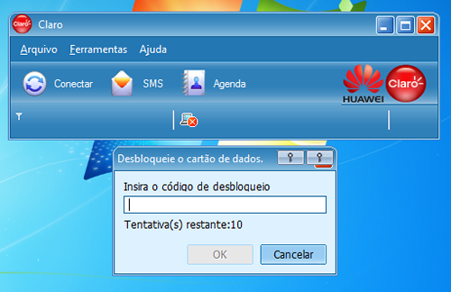 Modem Huawei bloqueado