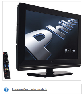 "TV LCD 32"" Philco, HDTV, Conversor Digital, Entrada HDMI, Entrada para PC, USB"